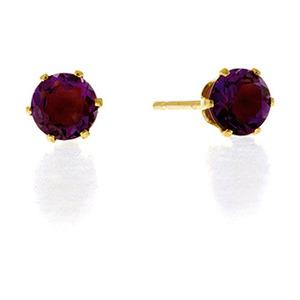 Photo of Amethyst Earrings  Amethyst 9K Yellow Gold Jewellery Woman
