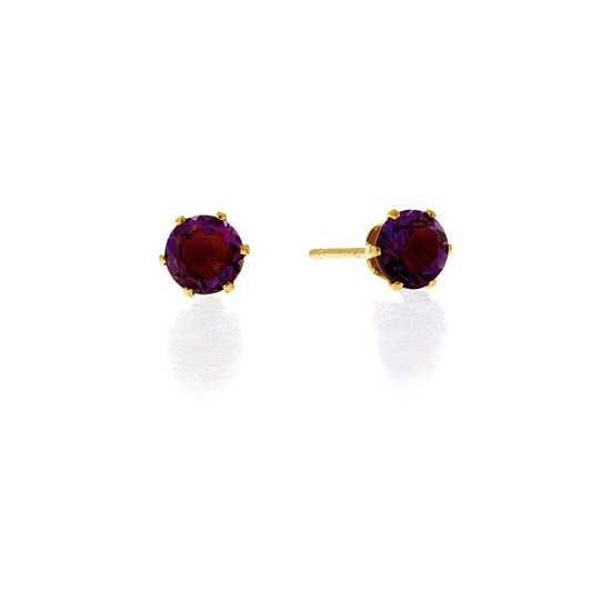 Amethyst Earrings  Amethyst 9K Yellow Gold