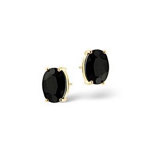 Photo of The Diamond Store Sapphire Earrings Sapphire 9K Yellow Gold Jewellery Woman