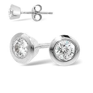 Photo of Stud Earrings 0.70CT Diamond 18KW Jewellery Woman