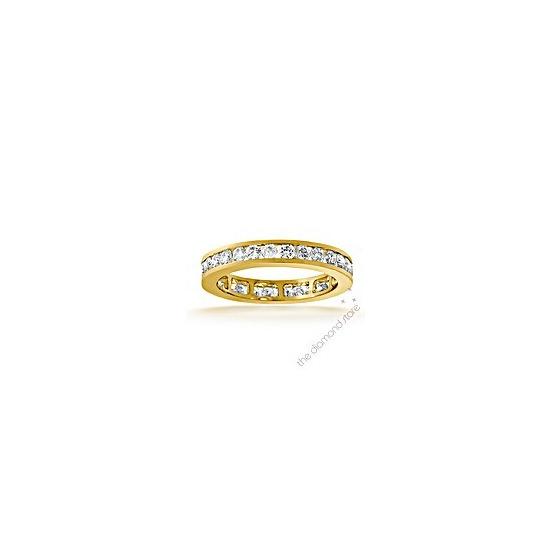 The Diamond Store Rae 18K H Si Diamond Full Eternity Ring 1CT Channel Set