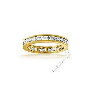Photo of The Diamond Store Rae 18K g Vs Diamond Full Eternity Ring 1CT Channel Set Jewellery Woman