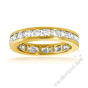 Photo of Rae 18K H/Si Diamond Full Eternity Ring 2CT Channel Set Jewellery Woman