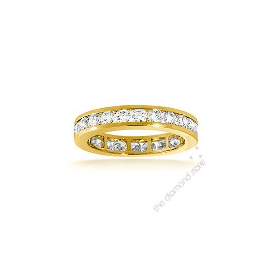 Rae 18K H/Si Diamond Full Eternity Ring 2ct Channel Set