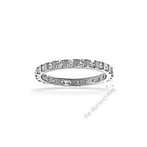 Photo of Hannah 18K H/Si Diamond Full Eternity Ring 0.50CT With Bar Jewellery Woman