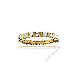 Photo of Hannah 18K H/Si Diamond Full Eternity Ring 1.00CT With Bar Jewellery Woman