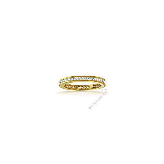 The Diamond Store Lauren 18K H Si Princess Cut Diamond Full Eternity Ring 0 50CT