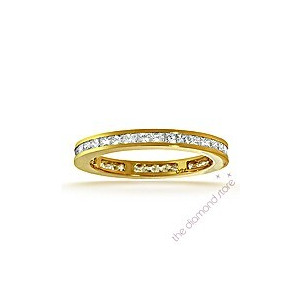 Photo of Lauren 18K g/Vs Princess Cut Diamond Full Eternity Ring 0.50CT Jewellery Woman