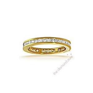 Photo of Lauren 18K g/Vs Princess Cut Diamond Full Eternity Ring 1CT Jewellery Woman