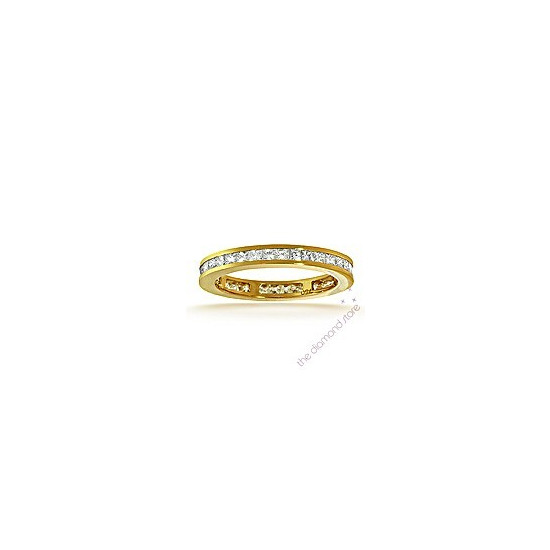 Lauren 18K G/Vs Princess Cut Diamond Full Eternity Ring 1ct