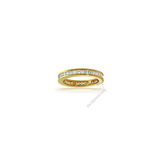 Lauren 18K H/Si Princess Cut Diamond Full Eternity Ring 1.50ct