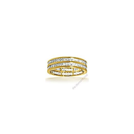 Holly 18K G/Vs Princess Cut Diamond Full Eternity Ring 1ct 2 Row