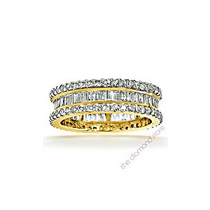 Photo of Katie 18K g/Vs 1CT Baguettes and Rounds Diamond Full Eternity Ring Jewellery Woman