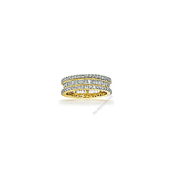 Katie 18K G/Vs 1ct Baguettes and Rounds Diamond Full Eternity Ring