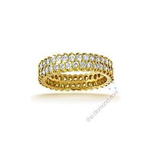 Photo of Jasmine 18K H/Si 1CT Pave Diamond Full Eternity Ring Jewellery Woman