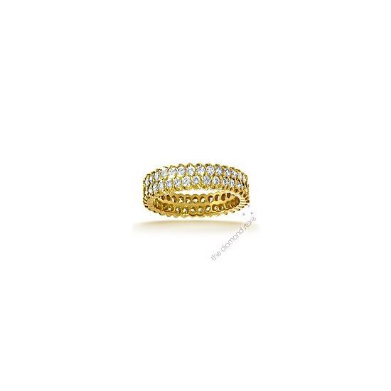 Jasmine 18K H/Si 1ct Pave Diamond Full Eternity Ring