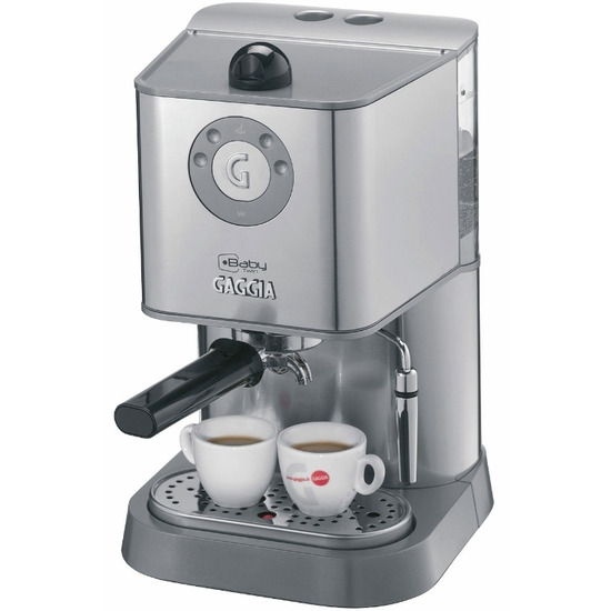 Gaggia Baby Twin Coffee Maker in Silver