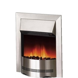 Dimplex Elda 2kW Electric Inset Fire ELD20 in Brushed Stainless Steel Reviews