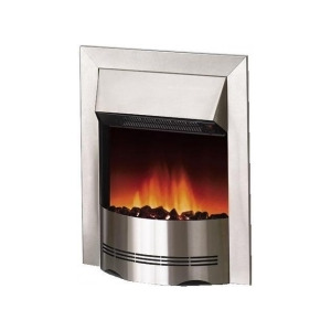 Photo of Dimplex Elda 2KW Electric Inset Fire ELD20 In Brushed Stainless Steel Electric Heating