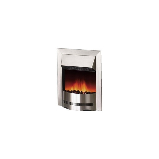 Dimplex Elda 2kW Electric Inset Fire ELD20 in Brushed Stainless Steel