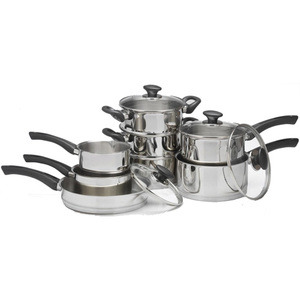 Photo of Russell Hobbs Nero 8-Piece Stainless Steel Set Cookware