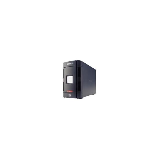 Buffalo DriveStation Duo HD-W1.0TIU2/R1 - Hard drive array - 1 TB - 2 bays ( SATA-150 ) - 2 x HD 500 GB - FireWire, Hi-Speed USB (external)