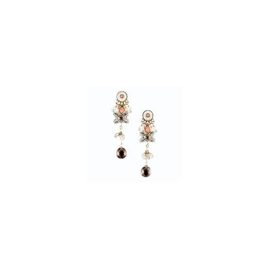 Long drop bow earrings