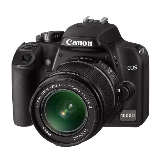 Canon EOS 1000D with 18-55mm Lens