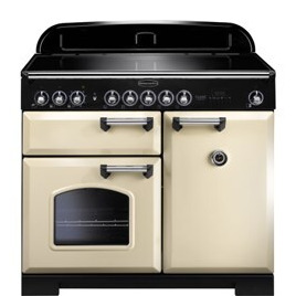 Rangemaster 95930 Classic Deluxe 100cm Electric Range Cooker with Induction Hob in Cream and Chrome Reviews