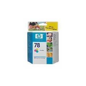 Photo of Original HP No.78 Tri-Colour (Cyan Magenta Yellow) Printer Ink Cartridge C6578DE Ink Cartridge
