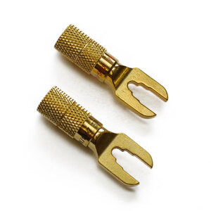 Photo of Van Damme Gold Spade Connector, 2-Pack Adaptors and Cable