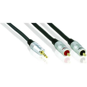 Photo of Profigold Audio Lead, Stereo, 3.5MM Male Jack To 2 X Phono Male Cable Adaptors and Cable