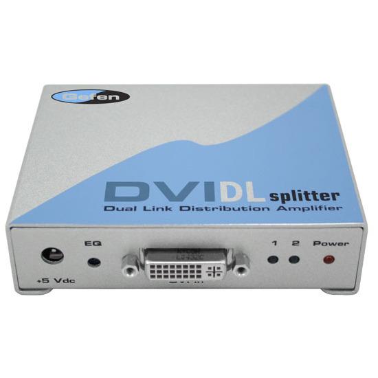 GEFEN 1x2 DVI DL Splitter (Pre-order) 1x DVI Dual Link inputs, 2x DVI Dual Link outputs