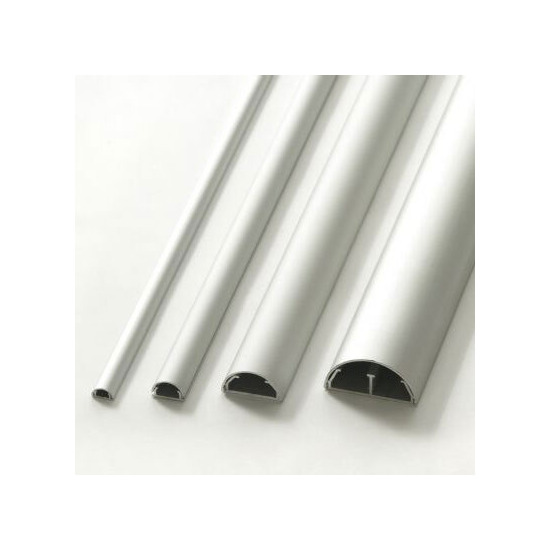 Cable Cover & Cable Tidy 50mm diameter - Silver