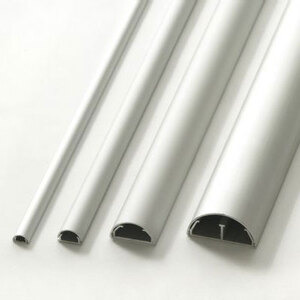 Photo of Cable Cover & Cable Tidy 50MM Diameter - Silver Cable Tidy