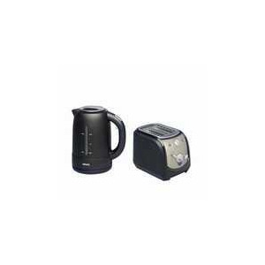 Photo of Krups Twin Pack Brushed Steel/Black Kettle & Toaster Kettle