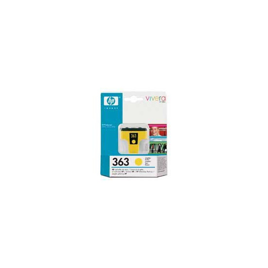 Original HP No.363 yellow printer ink cartridge C8773EE