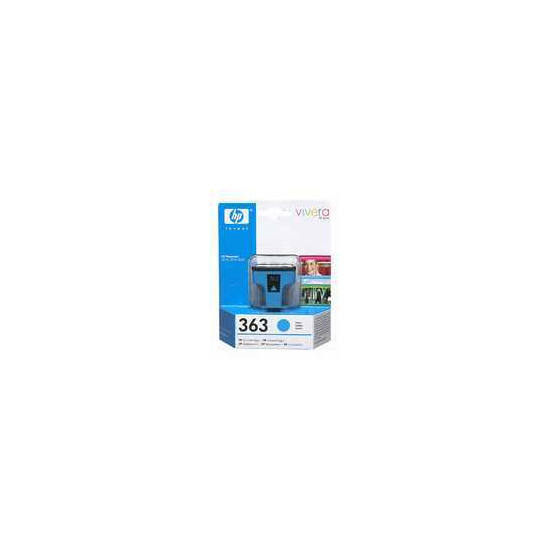 Original HP No.363 cyan printer ink cartridge C8771EE