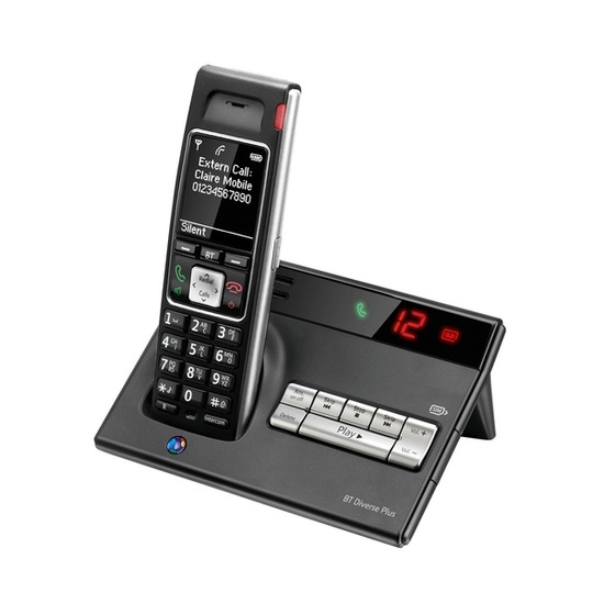 BT Diverse 7450 Plus Digital Cordless Telephone with Answering Machine