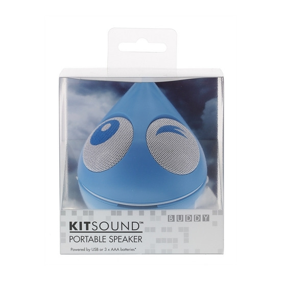 KITSOUND Raindrop Buddy Portable Speaker - Blue
