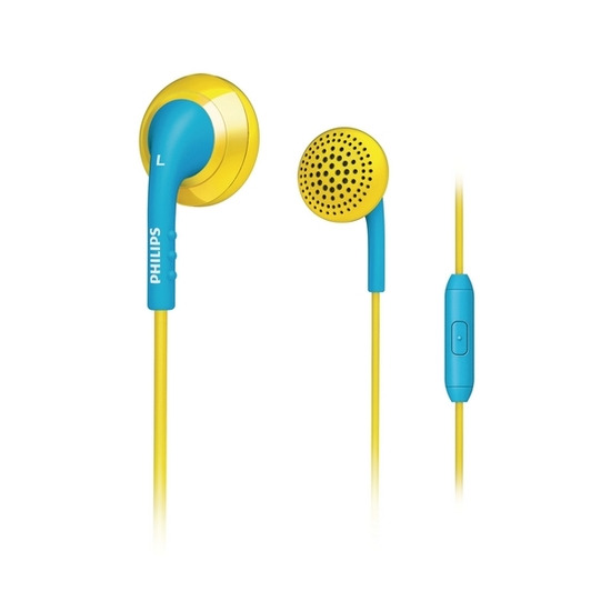 Philips SHE2675YB Headphones - Blue & Yellow