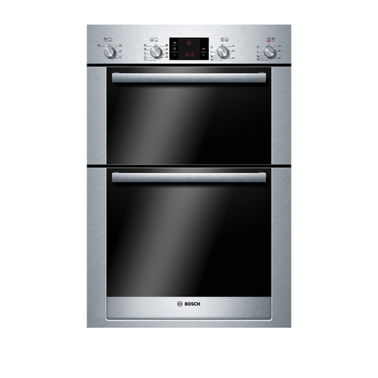 Bosch Exxcel HBM53B550B Electric Double Oven - Brushed Steel
