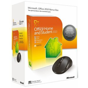 Photo of Microsoft Office Home and Student 2010 English DVD With 4000 Graphite Mouse Software