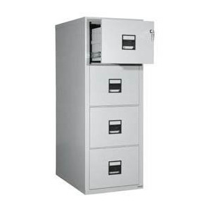 Photo of FireKing 4-2157-2H 4 Drawer Safe