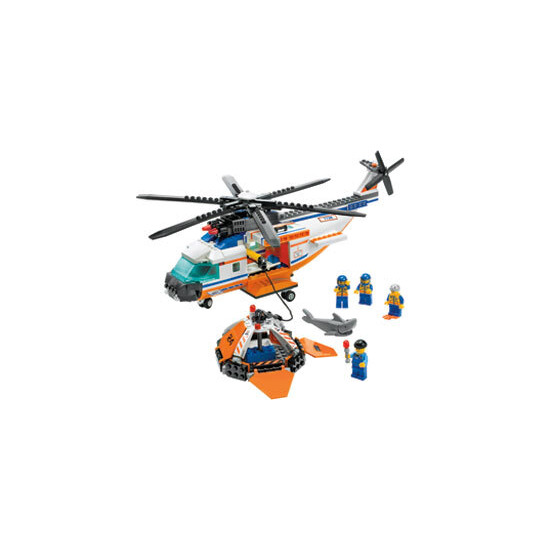 Coast Guard Helicopter & Life Raft 7738