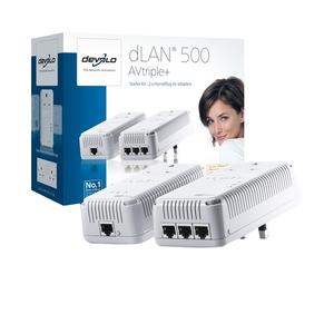 Photo of DEVOLO 1721DLAN 500 AVTRIPLE+ Starter Kit Network Switch