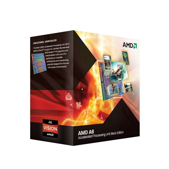 AMD A6-3670K 2.7GHz Socket FM1 4MB L2 Cache
