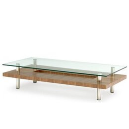 BDI Natural Stained Walnut Coffee Table 2301