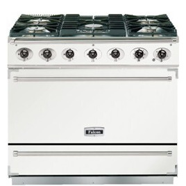 Falcon F900SEIWHN 900S Dividable Single Oven 90cm Electric Range Cooker in White and Nickel
