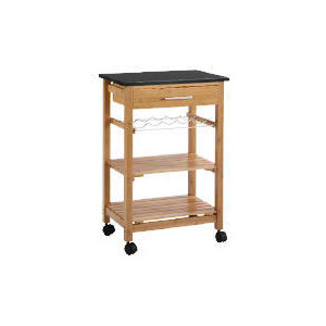 Photo of Bamboo Kitchen Trolley WTH Granite Top Furniture